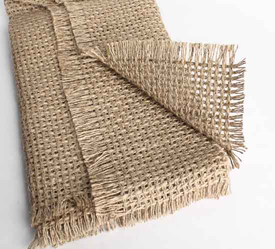 ... Designer Burlap Fabric Table Runner - Textiles and Linens - Home Decor