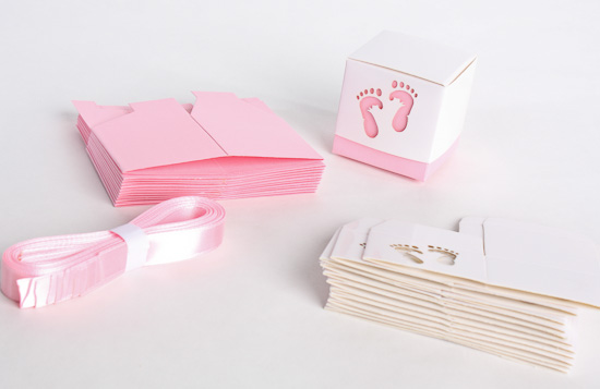 Pink Baby Feet Shower Favor Box Kit It S A Girl Theme