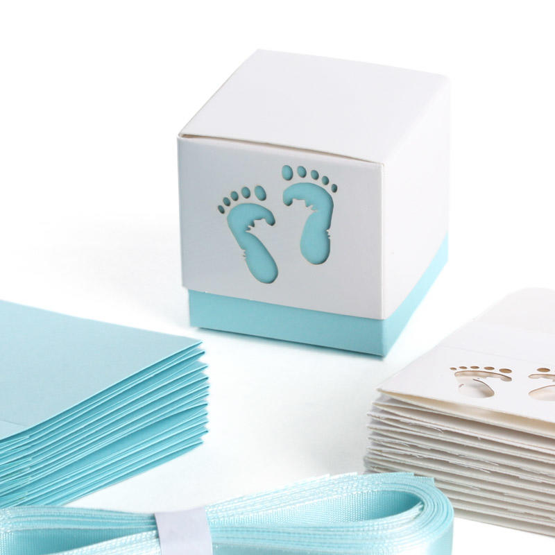 Marvelous Item# 1404069. Other Baby Feet Shower Favor Box ...
