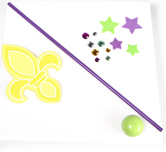 Mardi gras wand craft kit kids craft kits kids crafts for Princess wand craft kit