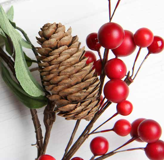 Pine Cone and Cranberry Wreath