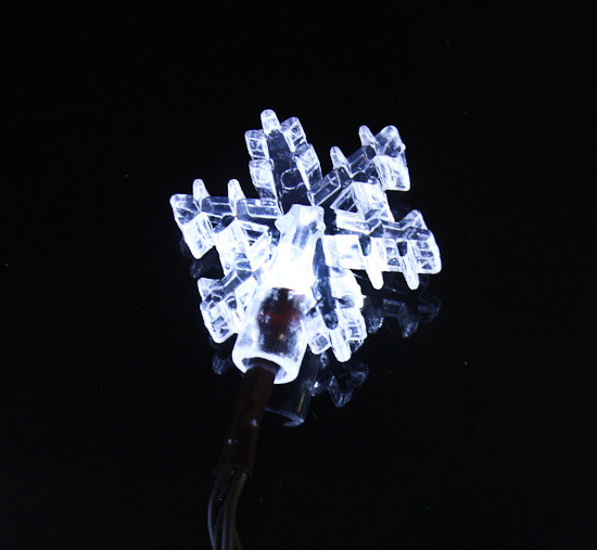 Battery-Operated LED Snowflake String Lights - Lighting - Christmas and Winter - Holiday Crafts
