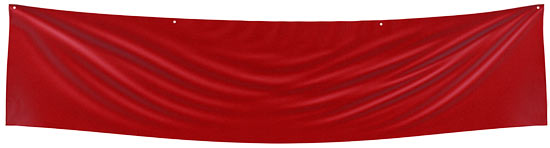 Red Blank Fabric Banner - Sports and Cheerleading - Party ...