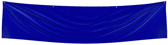 Blue Blank Fabric Banner