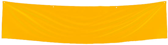 Yellow Blank Fabric Banner - Sports and Cheerleading - Party ...