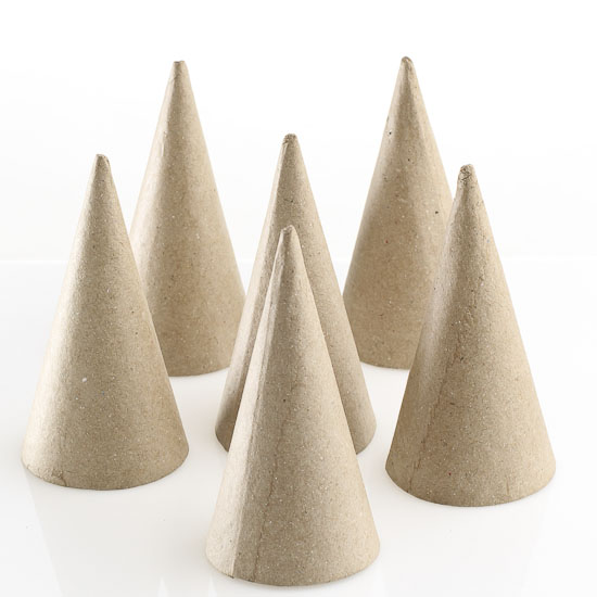 Fiberboard doll cones doll accessories doll making for Cardboard cones for crafts