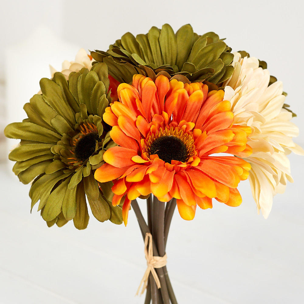 Fall Gerbera Daisy Bouquet Orange, Yellow ...