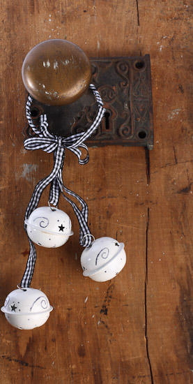 Jingle Bell Holiday Door Knob Hanger Bells Christmas