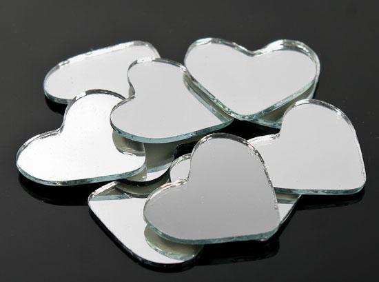 1 mini heart mirrors 10pcs mirrors home decor