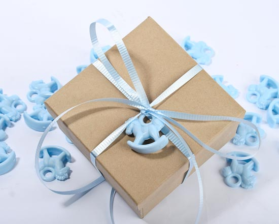 Blue Rocking Horse Baby Shower Favors Its A Boy Theme Baby
