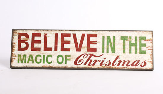 Quot believe in the magic of christmas wooden sign home