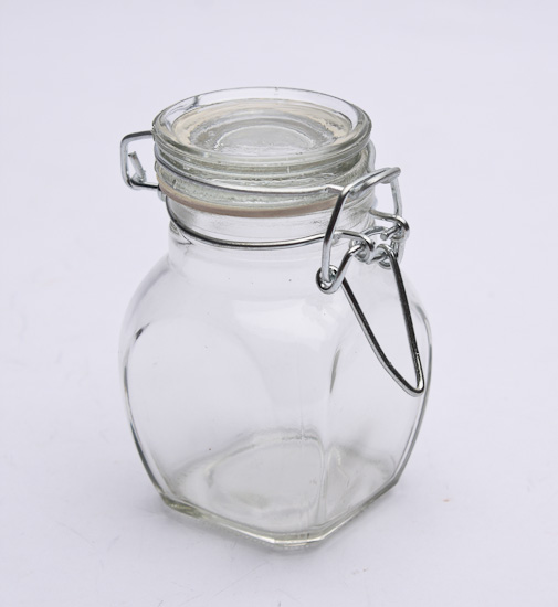 Hinged Lid Glass Favor Jars Decorative Containers