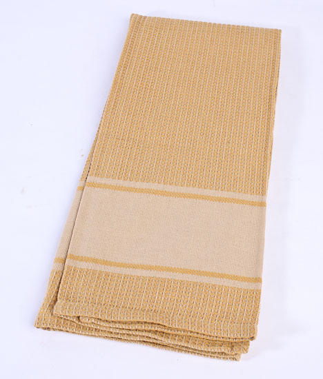 Mustard Waffle Weave Country Dish Towel
