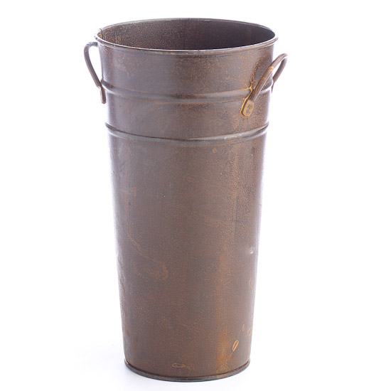 Rusty Tin French Flower Bucket Planters Containers