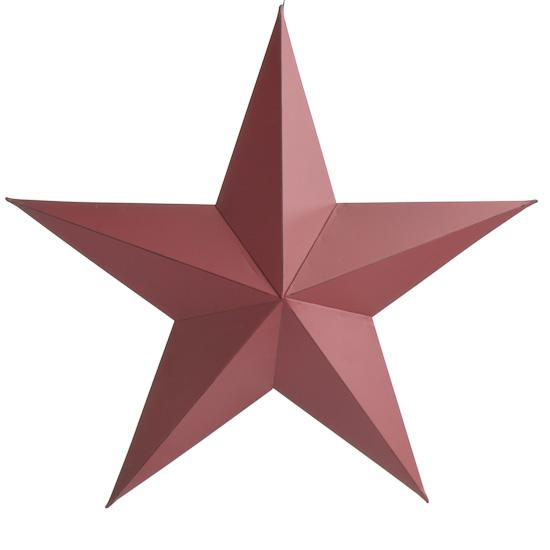 Rustic Red Dimensional Barn Star Ornament Barn Stars