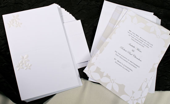 Printing Your Own Wedding Invitations: 50 Ct Print Your Own Floral Wedding Invitation Kit
