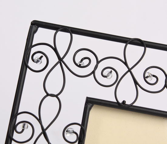 Black Metal Scroll Photo Frame - Placecards - Place Card Holders ...