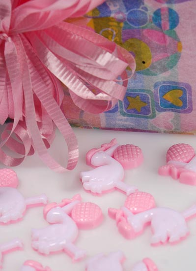 Pink Stork Baby Embellishments - Its A Girl Theme Baby -4255
