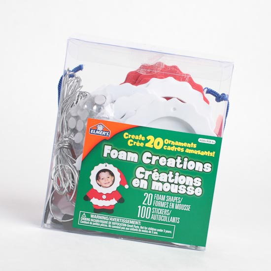Craft Foam Santa Photo Frame Ornaments Kit - Activity Kits - Kids ...