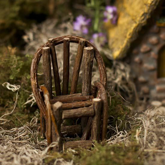 Miniature Rustic Twig Chair