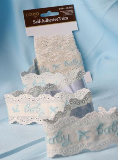 1 1 2 Quot Blue Quot Baby Quot Self Adhesive Lace Trim 2 Yards Sales