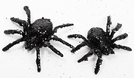 Sparkly Black Glitter Spiders Birds Amp Butterflies