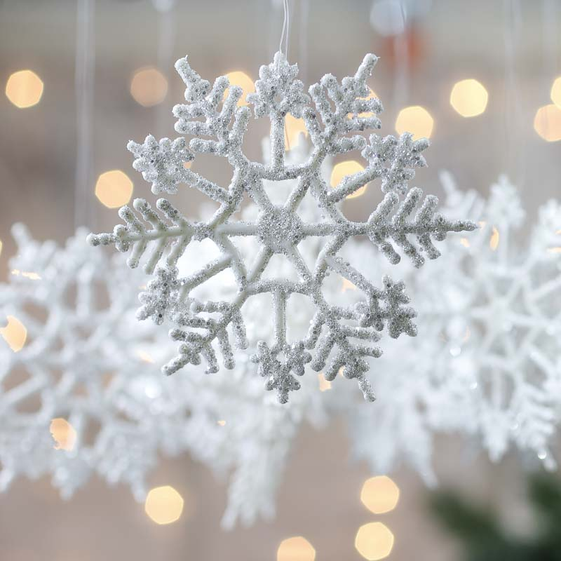 White snowflake ornaments christmas ornaments christmas and winter