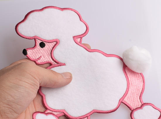 Pink Poodle Applique For Creating 50s Skirt Costume