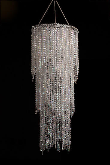 Simply Elegant Faux Crystal Decorative Chandelier - Centerpiece Mirrors - Party Supplies - Party ...