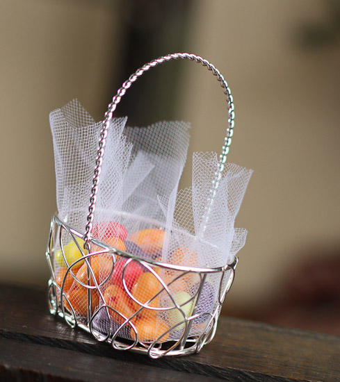 Oval Silver Wire Favor Baskets Baskets Buckets Boxes Home Decor