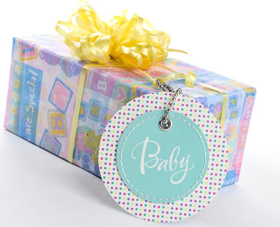 Pastel Baby Circle Gift Tags Baby Shower Favors Baby Shower
