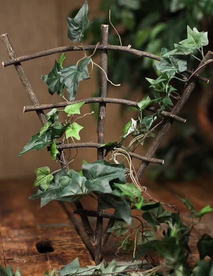 Mini Real Twig Fairy Garden Trellis