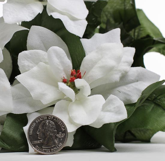 20 Quot White Artificial Poinsettia Floral Bush Holiday
