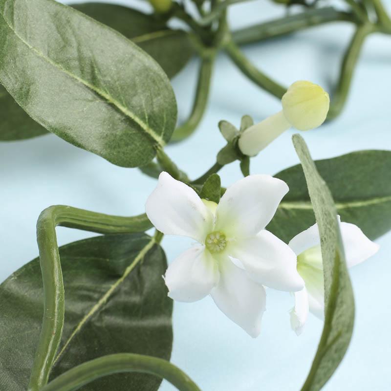 Dainty White Artificial Trumpet Floral Trailing Vine