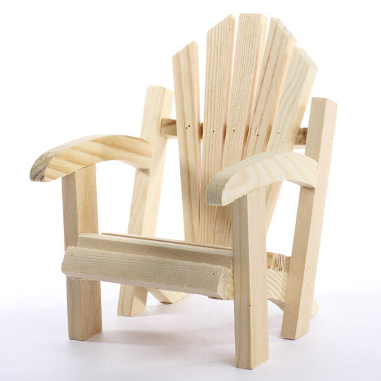 Mini Wood Adirondack Chair   Doll Accessories   Doll Making Supplies    Craft Supplies