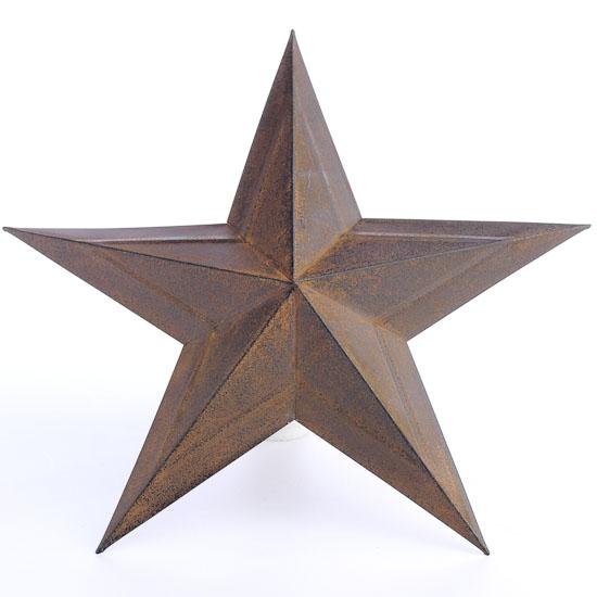 Primitive Dimensional Rusty Tin Barn Star - Barn Stars ...