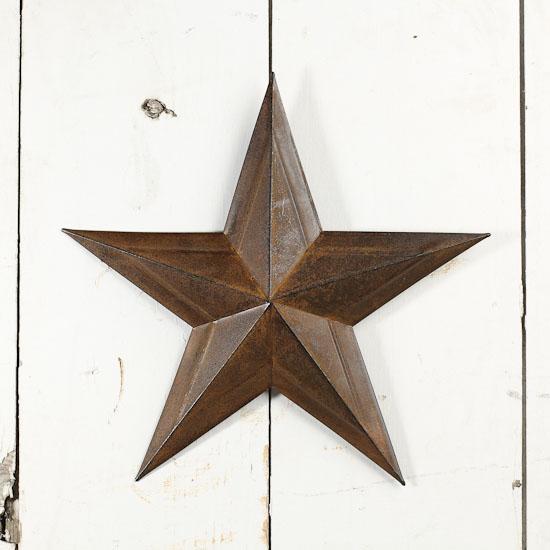 Star Home Decorations: Dimensional Rustic Barn Star