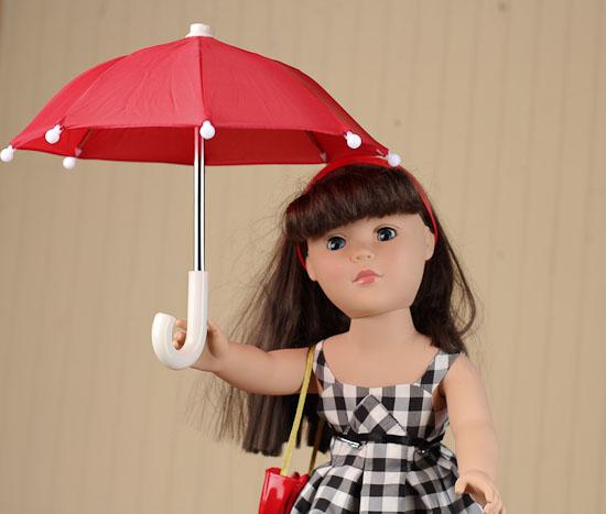 Miniature Red Umbrella Doll Accessories Doll Supplies