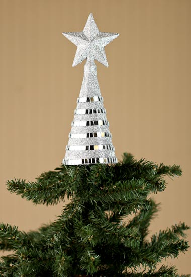 sparkling mosaic christmas tree star topper trees and toppers christmas and winter holiday crafts