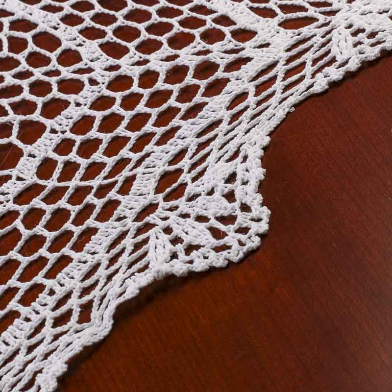 Crochet Patterns Lace Table Runners : White Crocheted Doily Table Runner - Crochet and Lace ...