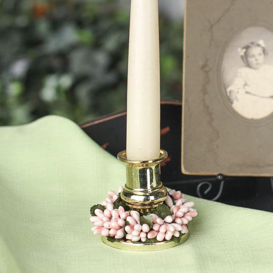 Soft Pink Pip Berry Candle Ring Spring And Easter