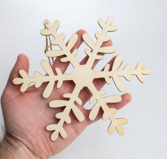 Snowflake Laser-Cut Wooden Christmas Ornaments