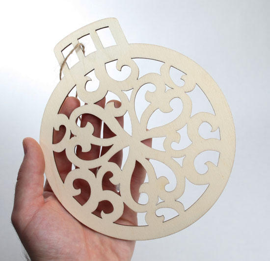 Unfinished wood laser cut christmas ornament wood for Wooden christmas cutouts