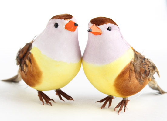 Artificial sparrow birds birds butterflies basic for Fake birds for crafts