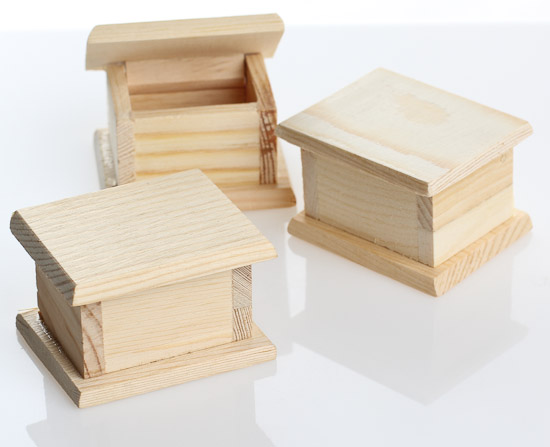 Miniature Unfinished Wood Boxes 12pcs What S New