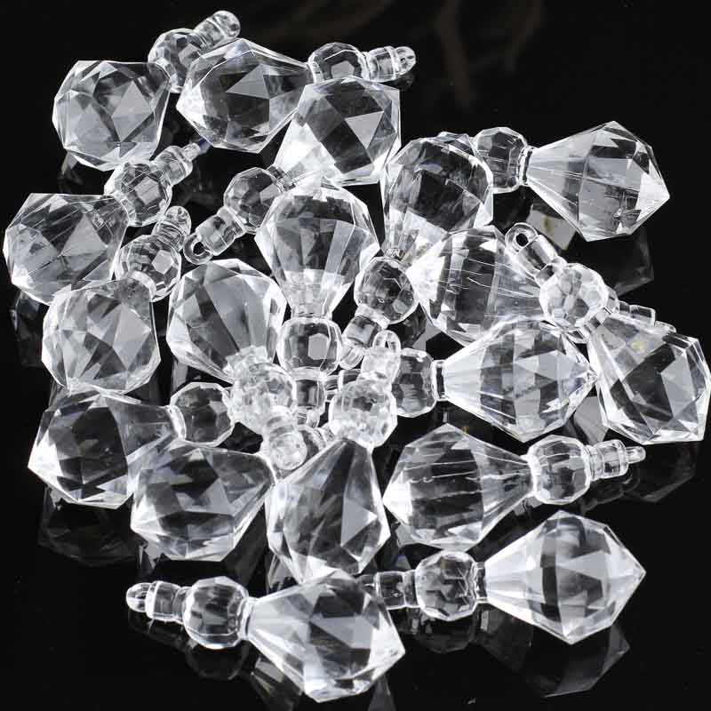 Acrylic Chandelier Crystal Charms Beads Jewelry Making