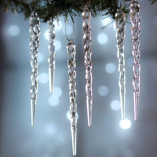 Crystal Clear Acrylic Icicle Ornaments - Christmas and ...