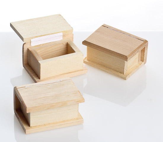 Miniature unfinished wood boxes what 39 s new dollhouse for Wooden craft supplies online