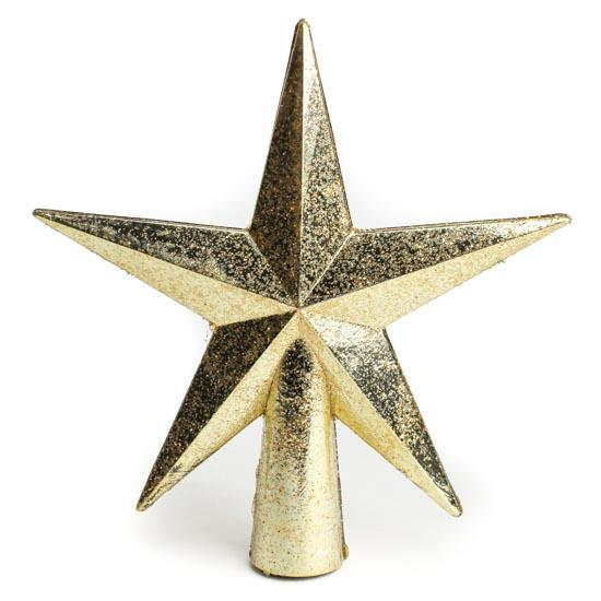 Small Gold Glittered Star Tree Topper - Trees and Toppers ...