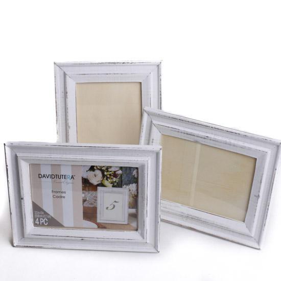 Rustic White Picture Frames - Coastal Decor - Home Decor